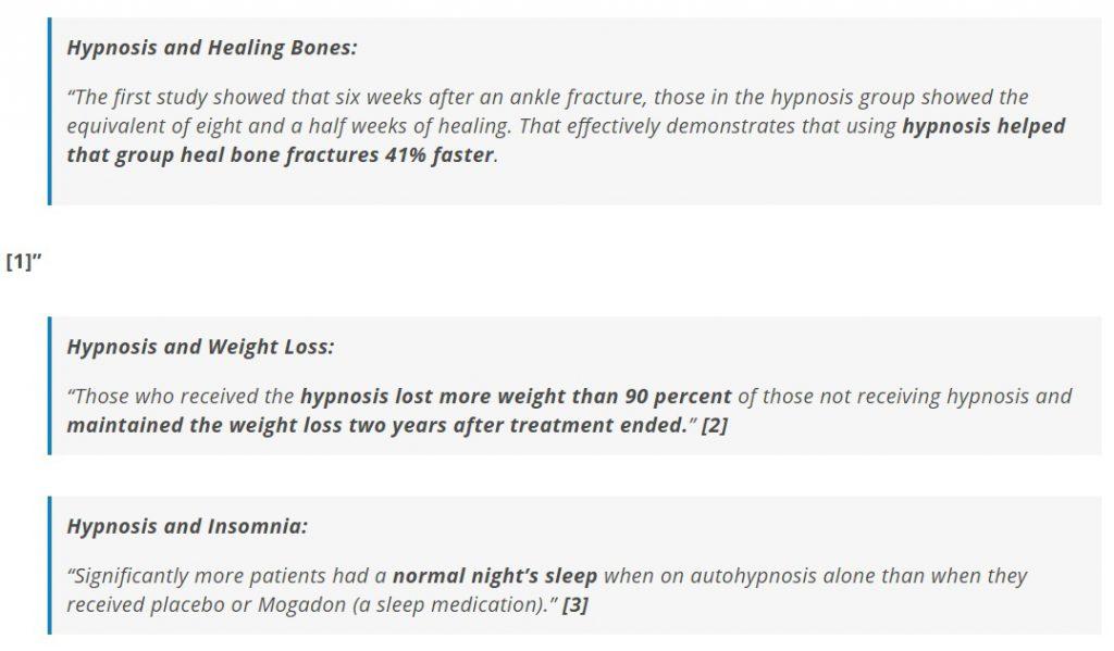 Hypnotherapy case studies